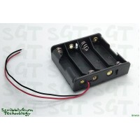 Battery Holder 4xAA with Wire Leads