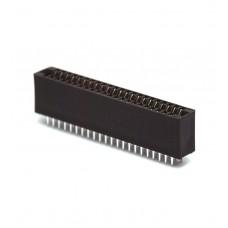 "Card Edge Slot Socket Connector 50 Pin (25x2 Pin) 2.54mm 0.1"" 3A RoHS PCB Mount"