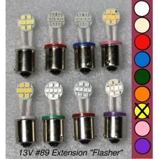 SGT Pinball LED Bulb 13V #89 Flex Extension (8xSMD3528) *Choose Colour*
