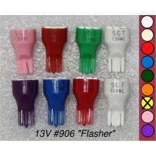 SGT Pinball LED Bulb 13V T15 #906 (8xSMD3528) *Choose Colour*