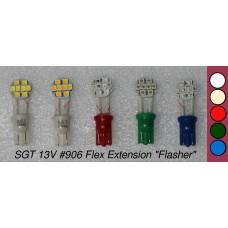 SGT Pinball LED Bulb 13V #906 Flex Extension (8xSMD3528) *Choose Colour*