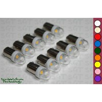 SGT Pinball LED Bulbs 6.3V #44/#47 Clear Dome Narrow SMD (Pack of 10) *Choose Colour*