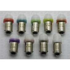 SGT Pinball LED Bulbs 6.3V #44/#47 Frosted Dome SMD Sample Pack of 9 Colours