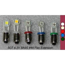 SGT Pinball LED Bulbs 6.3V #44/#47 Flex Extension SMD (Pack of 5) *Choose Colour*