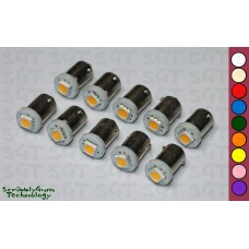 SGT Pinball LED Bulbs 6.3V #44/#47 Domeless SMD (Pack of 10) *Choose Colour*