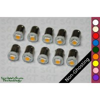 SGT Pinball LED Bulbs 6.3V #44/#47 Non-Ghosting Domeless SMD (Pack of 10) *Choose Colour*