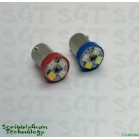 SGT Pinball LED Flame/Fire Bulb 6.3V SMD BA9 #44/#47 (Single Globe)