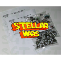 SGT Pinball LED Kit for Williams Stellar Wars (for Blue Lane Guides)