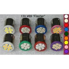 SGT Pinball LED Bulb 13V #89 (8xSMD3528) *Choose Colour*