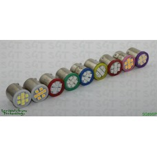 "SGT Pinball LED Bulbs 13V #89 ""Flasher"" SMD Sample Pack of 9 Colours"