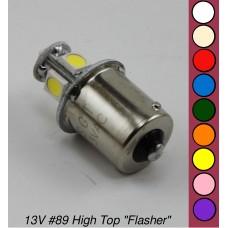"SGT Pinball LED Bulb 13V #89 High Top ""Flasher"" SMD *CHOOSE COLOUR*"
