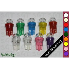 SGT Pinball LED Bulbs 6.3V T10 #555 Non-Ghosting Clear Dome SMD (Pack of 10) *Choose Colour*