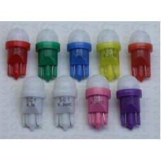 SGT Pinball LED Bulbs 6.3V T10 #555 Frosted Dome SMD Sample Pack of 9 Colours
