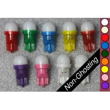 SGT Pinball LED Bulbs 6.3V T10 #555 Non-Ghosting Frosted Dome SMD (Pack of 10) *Choose Colour*