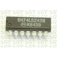 IC 74LS243 DIP-14 IC Quadruple Bus Transceiver