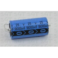Electrolytic Capacitor Axial 25V 18000uf 85°C