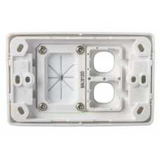 Wall Plate Double With Cable Management